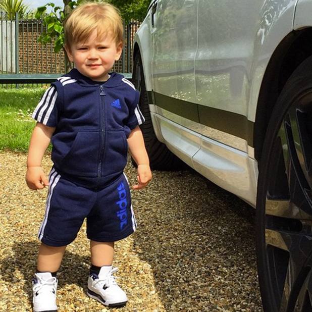 Dan Osborne shares picture of Teddy, 11 May 2015
