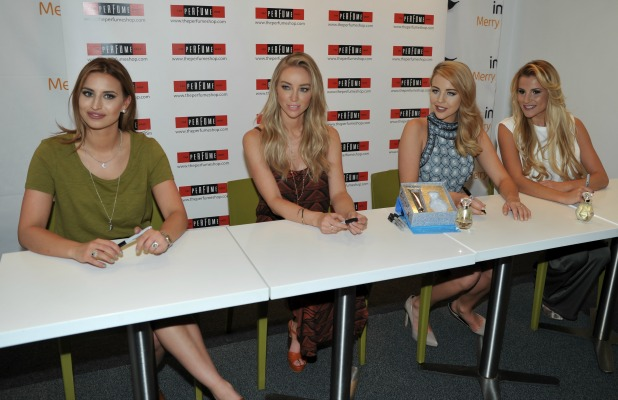 The Only Way Is Essex Marbs Edition fragrance launch at the Perfume Shop, Watford, Britain - 16 May 2015 Lauren Pope, Georgia Kousoulou, Lydia Bright, Ferne McCann