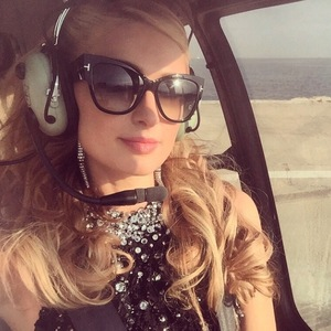 Paris Hilton Instagrams a picture of herself heading to Monaco in a helicopter May 20th 2015