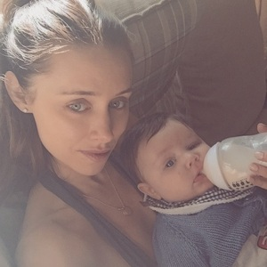 Una Foden and baby Tadhg