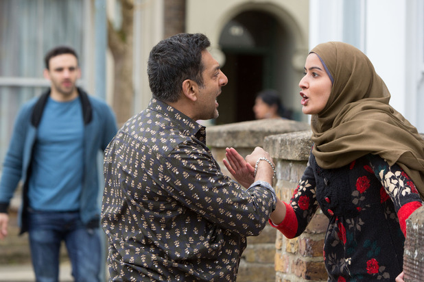 EastEnders, Masood rows with Shabnam, Mon 25 May