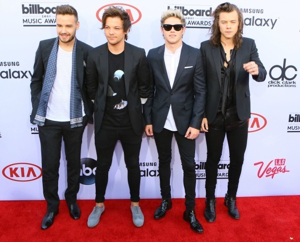 Liam Payne, Louis Tomlinson, Niall Horan and Harry Styles of One Direction arrive for The 2015 Billboard Music Awards on May 17, 2015 in Las Vegas, Nevada. (Photo by Gabriel Olsen/Getty Images)
