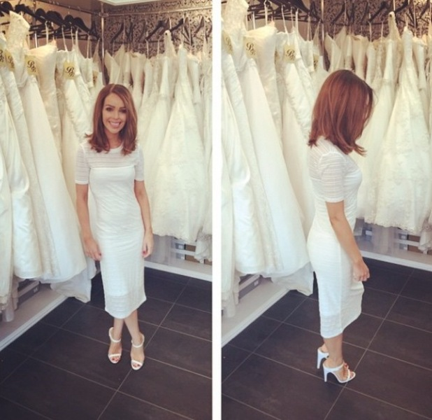 Katie Piper shares picture of Oasis dress and Topshop shoes to Instagram, 21st May 2015