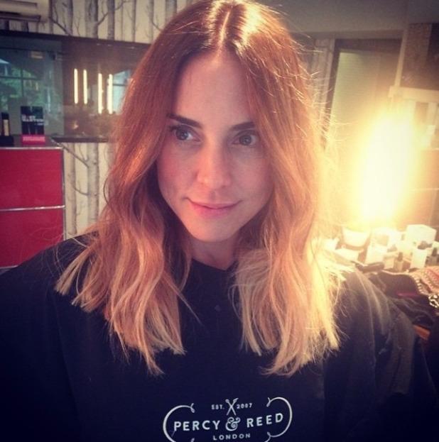 Melanie Chisholm gets a new haircut at Percy & Reed, London, 19 May 2015