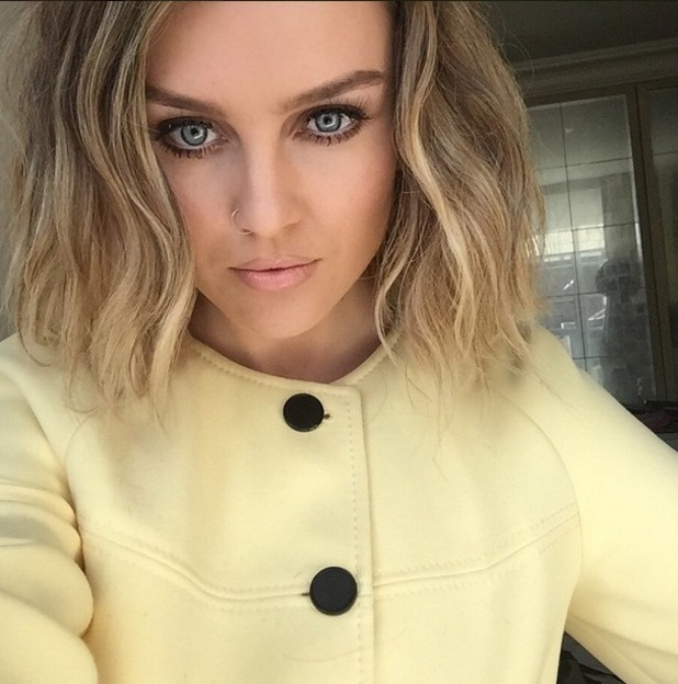 Perrie Edwards reveals new bob hairstyle on Instagram, 21st May 2015