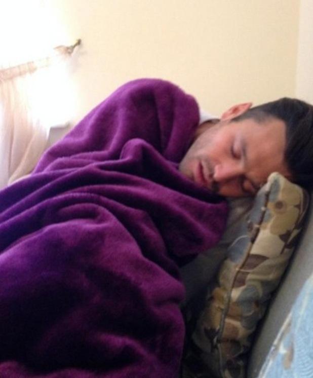 Mark Wright falls asleep at work, 20th May 2015