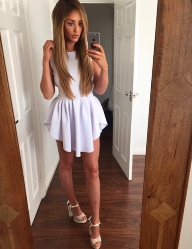 Charlotte Crosby on birthday night out, Instagram 17 May