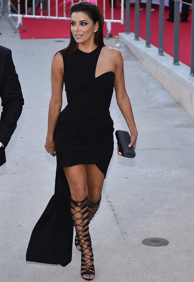 Eva Longoria Dresses Black Models Picture