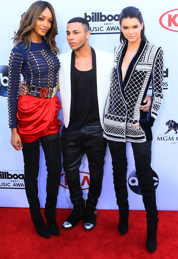 Kendall Jenner, Oliver Rousteing and Jourdan Dunn at the Billboard Awards 18th May 2015