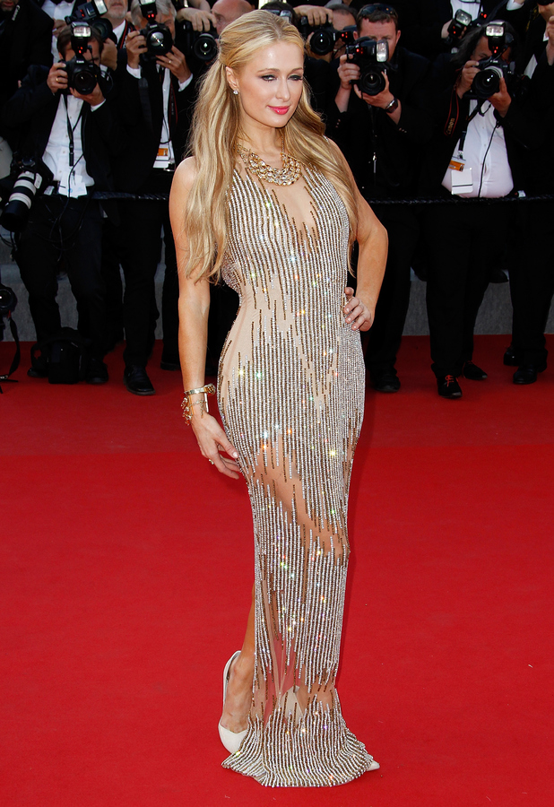 Paris Hilton on the red carpet at the Cannes Inside Out Premiere 19th May 2015