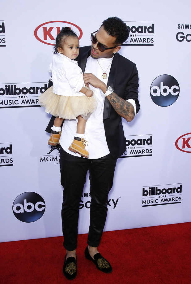 Chris Brown attends with his daughter, 2015 Billboard Music Awards Arrivals at MGM Grand Garden Arena Las Vegas, 17th May 2015