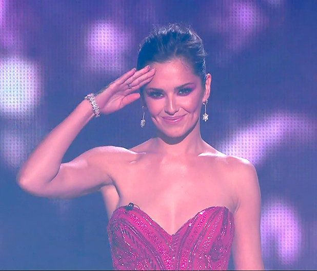 Cheryl on the X Factor finale 2014