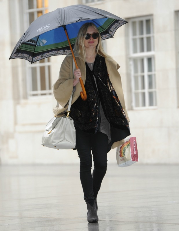 Fearne Cotton arriving at the BBC Radio 1 studios, 18 May 2015