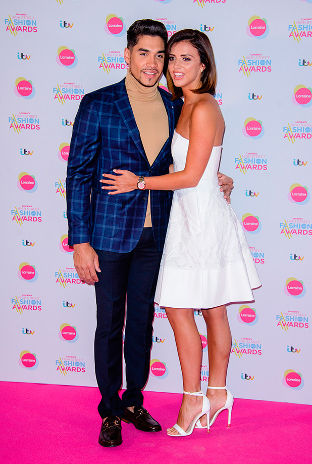 Lucy Mecklenburgh and Louis Smith at Lorraine's High Street Fashion Awards 2015 at the Soho Sanctum Hotel - Arrivals 19 May 2015