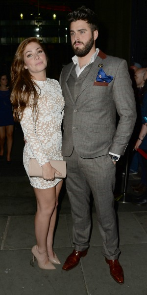 Nikki Sanderson steps out with Greg Whitehurst at the British Soap Awards after party at the Palace Hotel Manchester