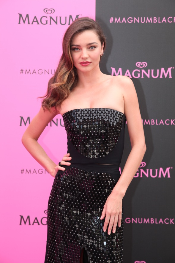 Miranda Kerr at the Magnum pink and black launch, Cannes, France, May 14 2015