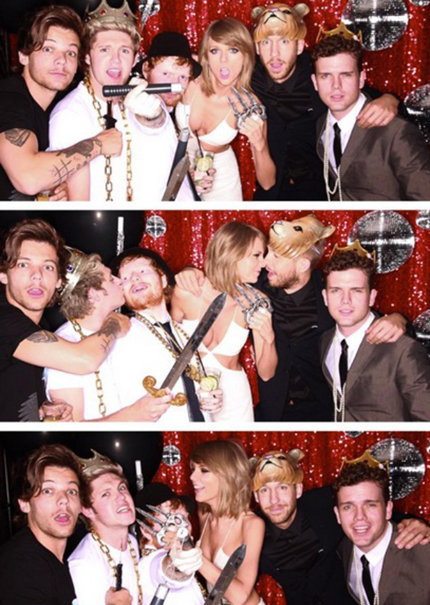 Taylor Swift parties with Calvin Harris, One Direction and Ed Sheeran after Billboard Music Awards, 2015