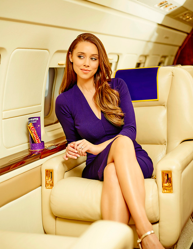 Una Foden and the new private Cadbury Jet 20 May 2015