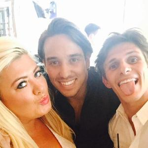 TOWIE's Gemma Collins, Jake Hall and James Lock in Marbs, 30 May 2015