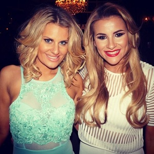 Georgia Kousoulou and Danielle Armstrong pose for a picture - TOWIE series 14 - 2015.