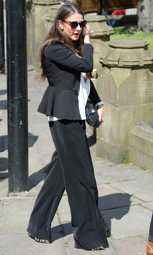 Brooke Vincent attends the memorial to co-star Anne Kirkbride, 30 May 2015