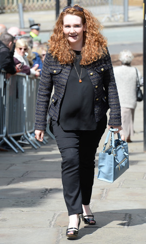 Jennie Mcalpine attends the memorial to co-star Anne Kirkbride, 30 May 2015