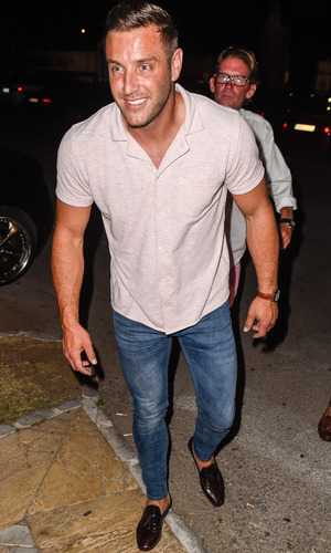 Elliott Wright parties with TOWIE cast members at Cavalli Club in Marbella on it's grand opening night, 20 May 2015