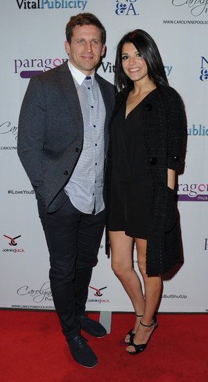 Emmerdale star Natalie Anderson and husband James Shepherd at Carolynne Poole's VIP showcase of her new album held at Gorilla Manchester - 28 May 2015.