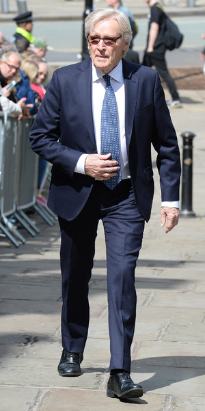 William Roache attends the memorial to co-star Anne Kirkbride, 30 May 2015