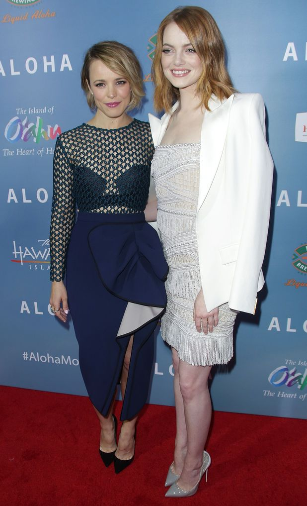 Rachel McAdams and Emma Stone, 'Aloha' film premiere, Los Angeles, America, 27th May 2015