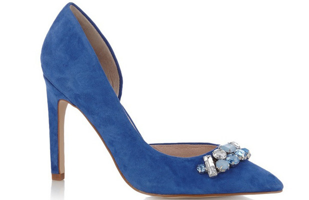 Faith Blue Leather Buckle pointed heels £29.50, 26th May 2015