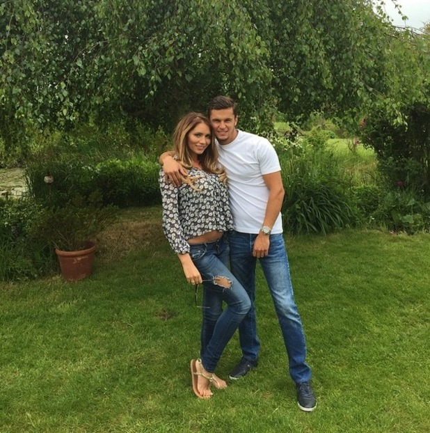 Amy Childs poses with boyfriend Bradley Wright, 24th May 20145