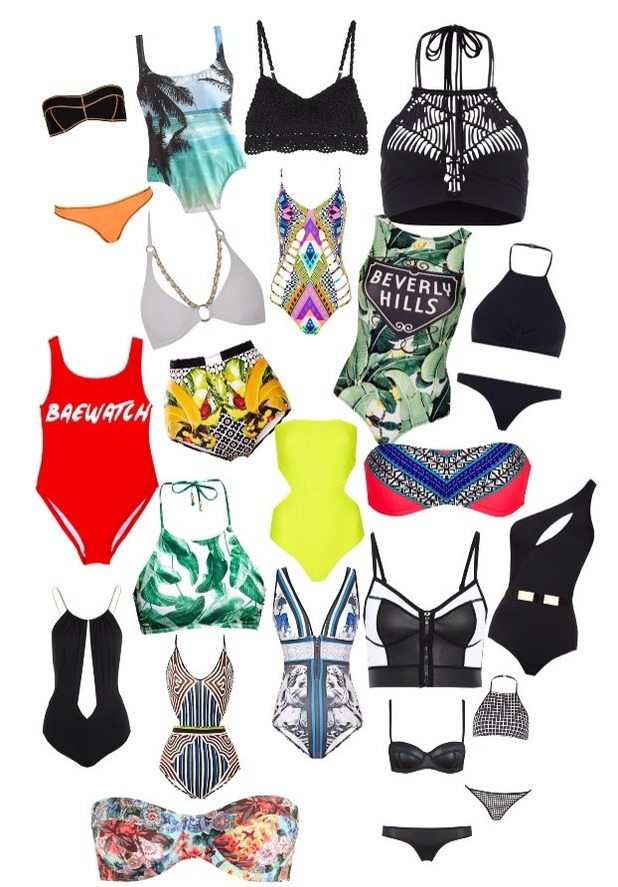 Brooke Vincent blog picture - 27 May: selection of bikinis/swimsuits.