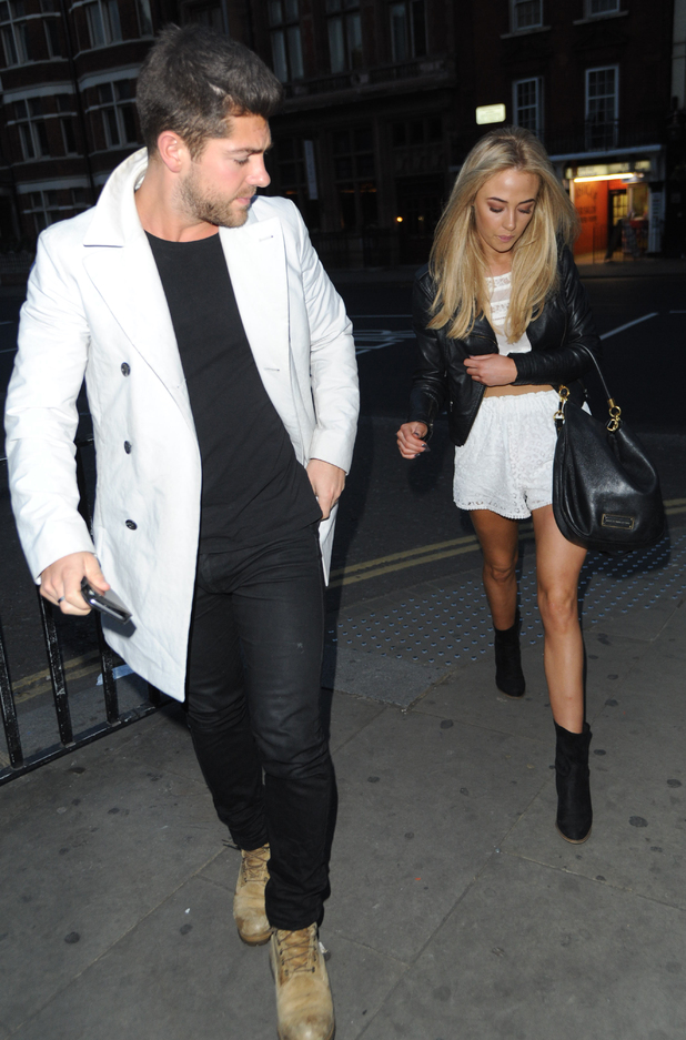 Made In Chelsea's Alex Mytton and Nicola Hughes at the wrap party at Bojo's Knightsbridge - 26 May 2015.