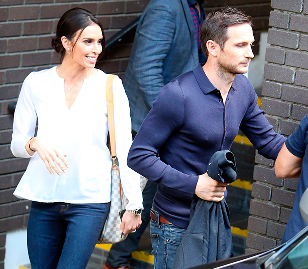 Frank Lampard and Christine Bleakley outside ITV Studios, 28 May 2015