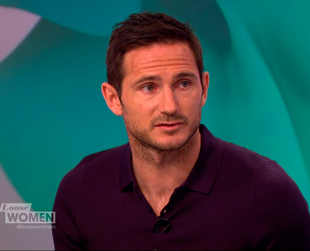 Frank Lampard promoting his new children's book 'Frankie's Magic Football: The Grizzly Games' on 'Loose Women'. Broadcast on ITV1 HD.