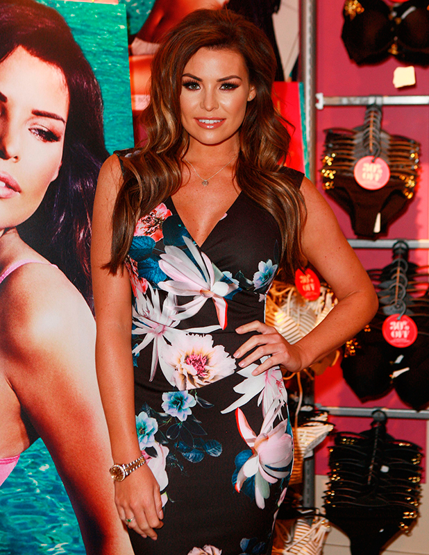 Jessica Wright photcall at Ann Summers, Birmingham, Britain - 28 May 2015