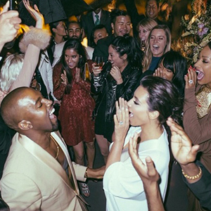 Kim Kardashian and Kanye West: photo from wedding album