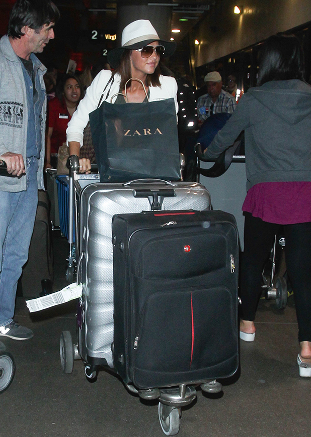 Lucy Mecklenburgh is seen at LAX on May 26, 2015 in Los Angeles, California.