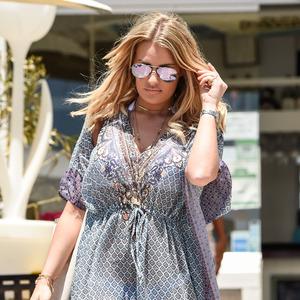 TOWIE's Danielle Armstrong walking through Marbella, 4th June 2015