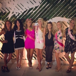 Paris Hilton attends Nicky Hilton's bachelorette party, 7 June 2015