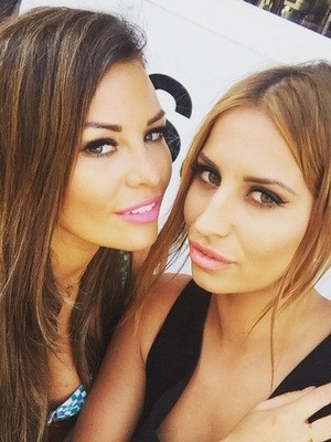 Jessica Wright and Ferne McCann, Marbella 4 June