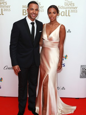 Marvin Humes and Rochelle Humes at Together for Short Lives Midsummer Ball 2015 - Banqueting House, Whitehall, London - 3 June 2015.