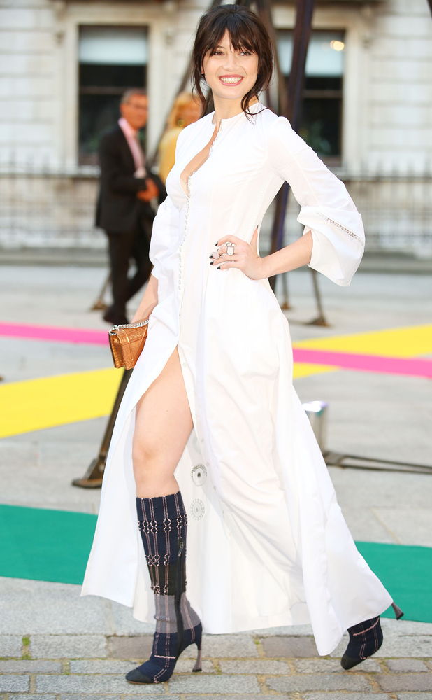 Daisy Lowe at the Royal Academy Summer Exhibition in London 5th June 2015