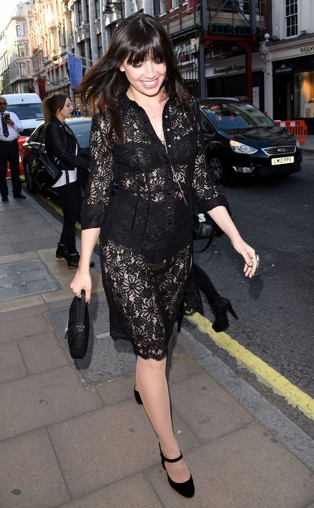 Daisy Lowe leaving Odette's restaurant in London 5th June 2015