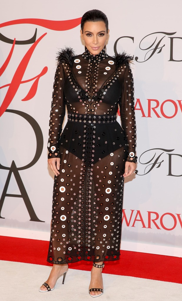 Kim Kardashian at the CFDA Fashion Awards, New York, America - 01 Jun 2015