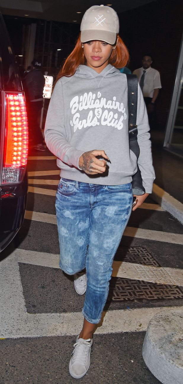 Rihanna leaving Game Nightclub in New York on 3rd June 2015