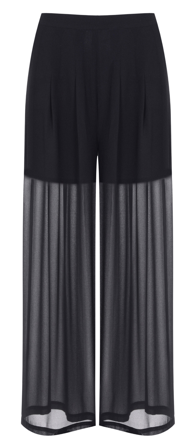 Kendall and Kylie Jenner unveil new Topshop Collection, palazzo pants, £40, 1st June 2015