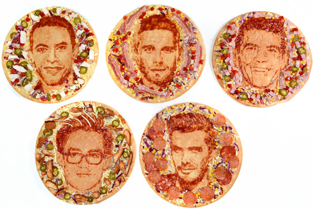 Morrisons unveils celebrity dad pizza portraits - 2 June 2015.