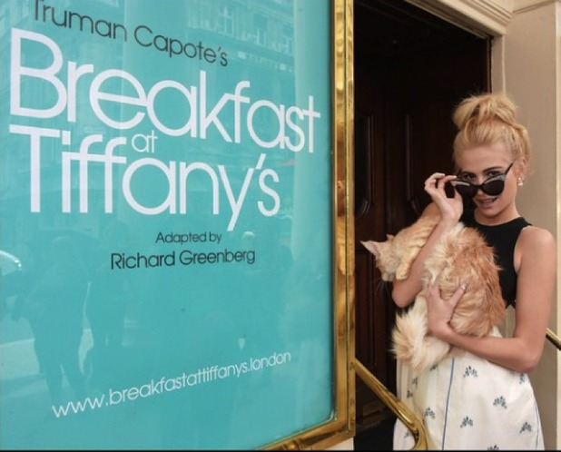 Pixie Lott announces lead role in Breakfast at Tiffanys, outside London's Theatre Royal